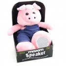 Cuddley Animal Stereo Speaker Pink PIG MP3 -CD-iPod-mobile-Stereo & more