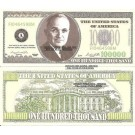 Novelty Dollar Casino Party Poker Night Money 100,000 Dollar Bills X25
