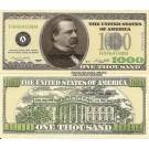 Novelty Dollar Casino Party Poker Night Money Cleveland 1,000 Dollar Bills X 25