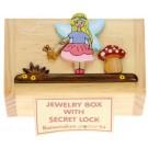 Fairy Girls Trinket or Money Box - Secret Lock - 6x10.5x6.5cm Handcrafted Christmas Present