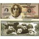Novelty Dollar John Lennon The Beatles Million Dollar Bills X 4 New