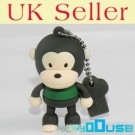 4GB Novelty Cartoon Cute Brown Green Monkey USB Flash Key Pen Drive Memory Stick Gift UK