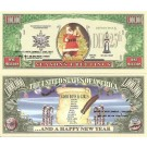 Novelty Dollar Santa Claus Seasons Greetings Dollar Bills X 4