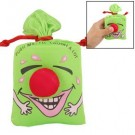 Red Crown Nose Decor Funny Face Pattern Sponge Stuffed Green Laughing Bag