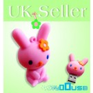 16GB Novelty Cartoon Cute Pink Rabbit USB Flash Key Pen Drive Memory Stick Gift UK [PC]