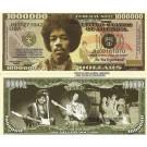 Novelty Dollar Jimi Hendrix Rock N Roll Guitarist Dollar Bills X 4 New