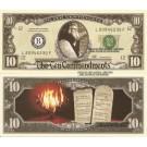 Novelty Dollar Ten Commandments Moses Mount Sinai 10 Dollar Bills X 4