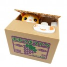 Thinkbay Cat Coin Bank Itazura Money Save Box Chatora Cat Gift - Muilti-Color - 5.7x5.9x4.96