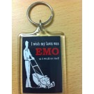 Novelty Emo Lawnmower - Key Ring