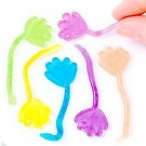 Mini Stretchy Sticky Hands Pack of 12 - Great Boys and Girls Party Bag Fillers