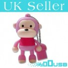 4GB Novelty Cartoon Cute Pink Monkey USB Flash Key Pen Drive Memory Stick Gift UK
