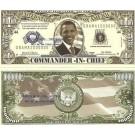 Novelty Dollar Barack Obama Commander In Chief Dollar Bills X 4