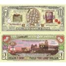 Novelty Dollar Las Vegas Sin City Gambling Casino Dollar Bills x 4 United States America Nevada USA