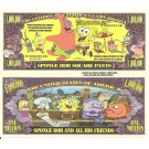 Novelty Dollar Sponge Bob Square Pants Million Dollar Bills X 4