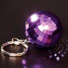Disco ball novelty keyring