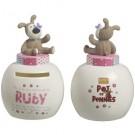 Boofle Pots Of Pennies Mini Money Pot - Ruby