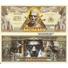 Novelty Dollar The Mummy Boris Karloff Million Dollar Bills X 4 New