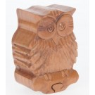 OWL Wooden Puzzle Box - Secret Compartment! Design 3 of 10. Xmas Sale! FREE Delivery