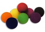 1'' Black Soft Sponge Balls - Pack of 4 with Instructions